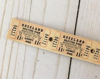 Vintage Roseland Skating Rink Tickets set of 30