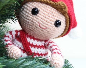 Crochet pattern - Merry the Christmas Elf by Tremendu - amigurumi crochet toy, PDF digital pattern