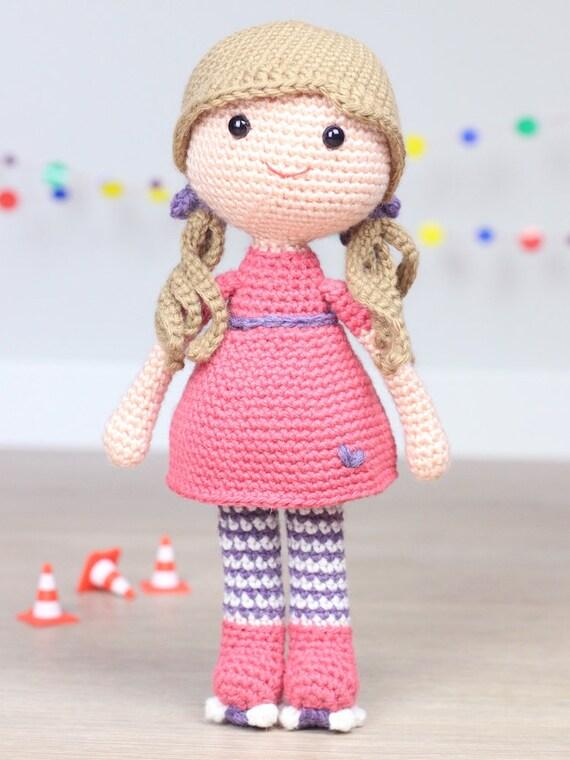 Katy la patinadora amigurumi patrón de ganchillo. Amigurumi   Etsy