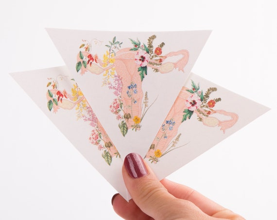Flowery Uterus Anatomy sticker set  STC003