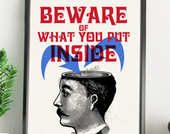 Christmas gifts for mom Smart quote Beware of what you put inside Victorian poster printed on white paper cardboard. TYQ052WA4
