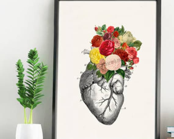 Springtime Roses Human Heart Anatomical home decor SKA135WA4