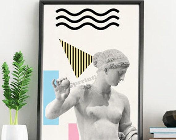 Greek torso Statue. Classical art print SKA229WA4