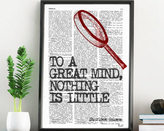 smart Quote Print, Sherlock holmes fan, Wall Decor, College Dorm Sherlock Poster Bedroom wall art TYQ009