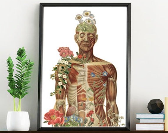 Nature is all around, Anatomy art, Anatomical art, Wall art decor, Anatomy, Medical , Gift for doctor SKA143WA4