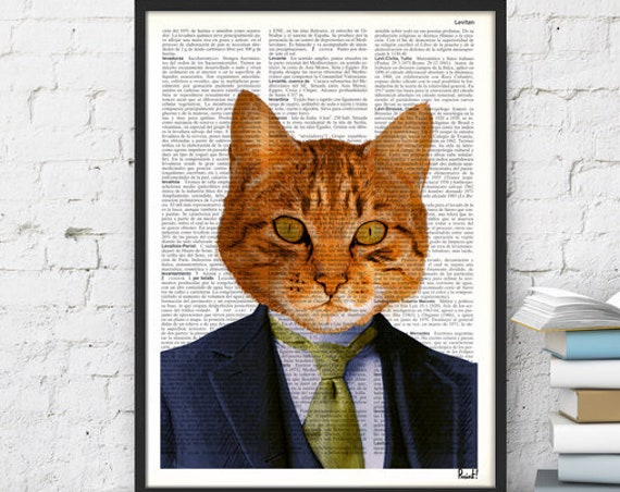 Busy Business cat Wall Decor perfect for Christmas gifts ANI066b