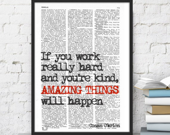 INSPIRATIONAL Quote Print, Boyfriend Gift , Gift, MOTIVATIONAL College Dorm Poster print house  Poster print TYQ08