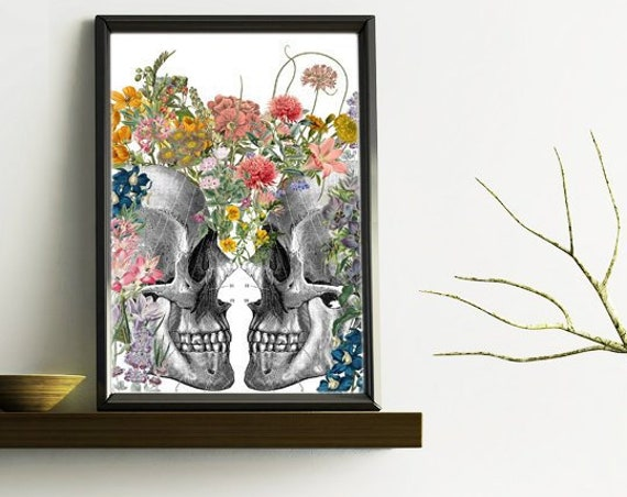 We bloom together. Nature art.  Anatomy art, Romantic art, Wall art decor, Anatomy, Gift for her SKA235