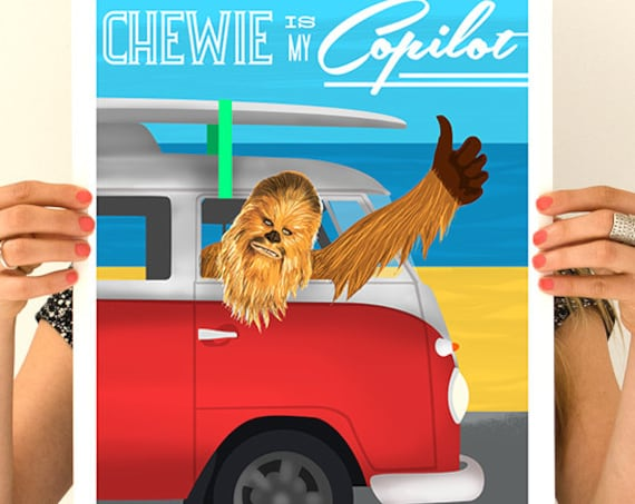 Christmas gifts for mom Chewbacca Star Wars Poster, Wall Art, Wall decor, Star wars inspired Art, Wall Hanging Poster, TVH205WA3