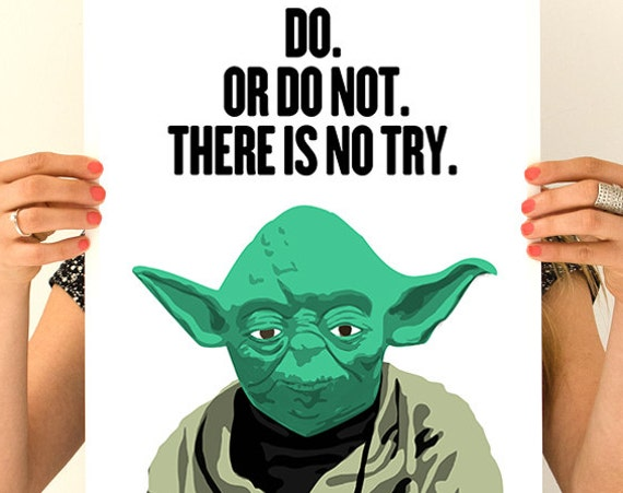 Yoda poster, Encouraging gift, Wall Art, Wall decor, Star wars inspired Art, Wall Hanging star wars TYQ047WA3