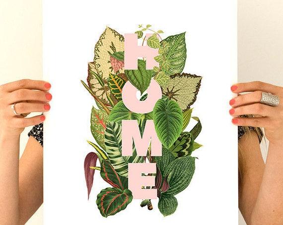 Christmas gifts for mom Wall Art Home decor, Typography art, Plant lover,  Print, Wall art, Wall decor, Home design, Poster TYQ162WA3