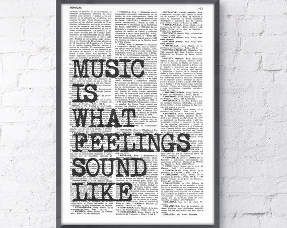 Christmas gifts for her Music Wall QUOTE Wall Saying Music Wall Art, Music Art poster, Gift for Music Lover,  Room Decor Rock n Roll TYQ053