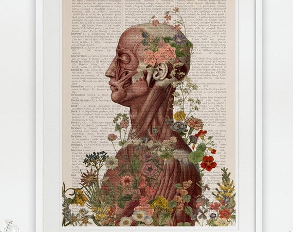Nature is on me, anatomy art,  wall art, wall decor, anatomy, poster, muscles art, muscles,  gift SKA144PA3