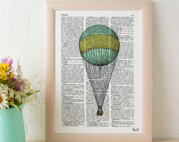 Simple Hot air Balloon Wall art Print the best choice for gifts  TVH077b