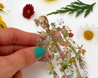 Back to school SVG - Skeleton Sticker - Flower Skeleton - Transparent Stickers - Anatomy Sticker - Laptop Decal - Human Skeleton - STC039