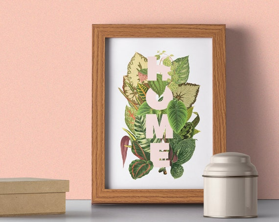 HOME and amazing plants leafs Wall poster TYQ162WA4