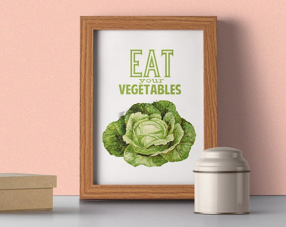 Kitchen Wall Art Eat your Vegetables Poster TYQ037WA4