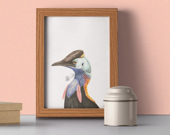 Exotic Nature Blue Bird wall art ANI242WA4