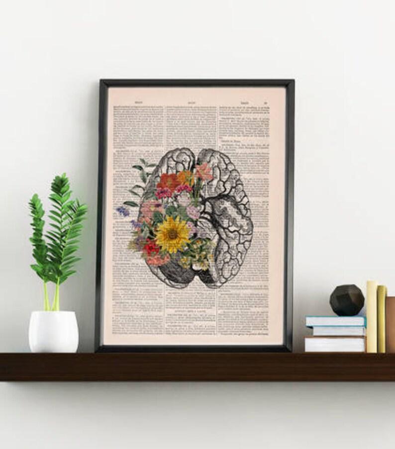 Nature Anatomy  Brain Flower  Anatomy Illustration  Medical image 0