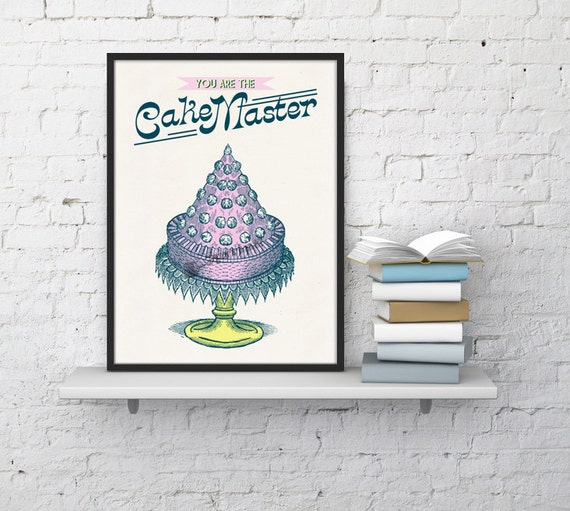 Christmas gifts for mom Art Bakery kitchen poster, Wall art decor, Home decor, Perfect gift for mom, Old engraving poster TYQ021WA4