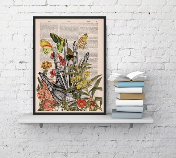 Take my hand human Anatomy Print on dictionary Anatomy art human anatomy, science & anatomy art, wall decor SKA063b