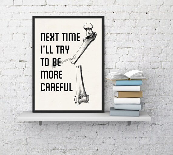 Be careful typography Anatomy wall print  SKA055WA4