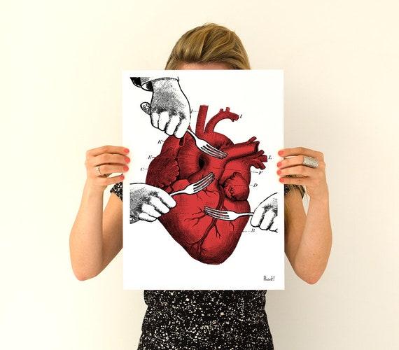 Human Sweet Heart Anatomical art Poster SKA034WA4