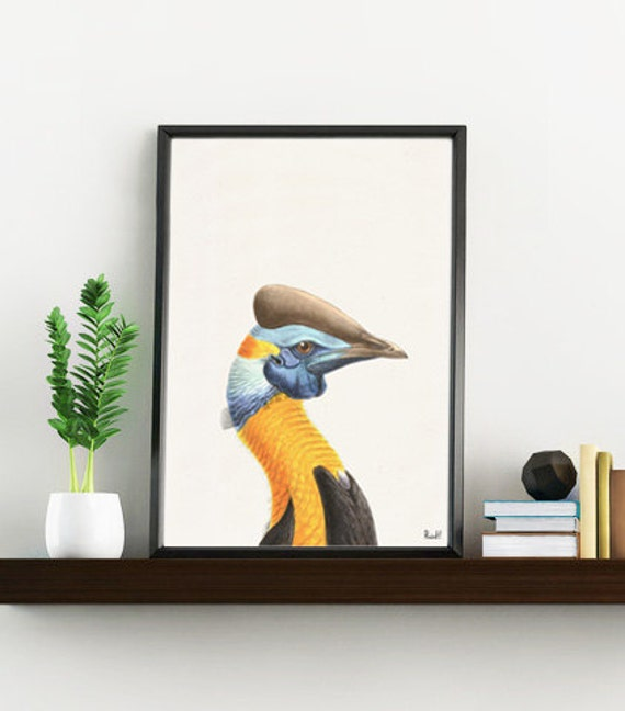 Exotic Nature Yellow Bird wall decor ANI240WA4