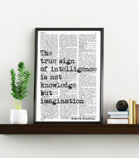 Albert Einstein INSPIRATIONAL Quote Print, Gift, MOTIVATIONAL College Dorm Poster print Poster print TYQ006