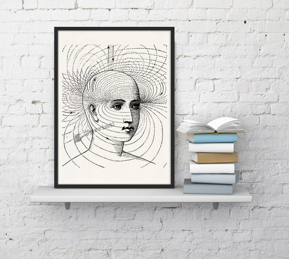 Human perception, Anatomy art, Anatomical art, Wall art, Wall decor, Anatomy, Medical gift, Wholesale, Gift for doctor,Science art SKA127WA4