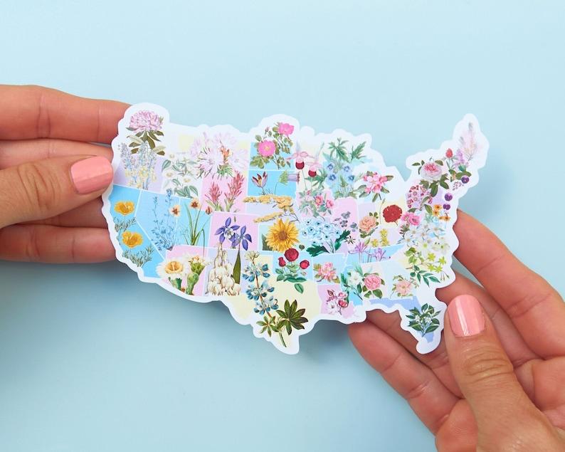 State Flower Stickers  US Flower Sticker  Botanical Stickers image 0