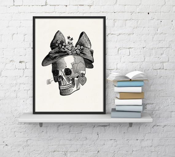Mrs skull collage Print, Anatomy art, Anatomical art, Wall art decor, Anatomy, Medical , Gift for doctor SKA009WA4