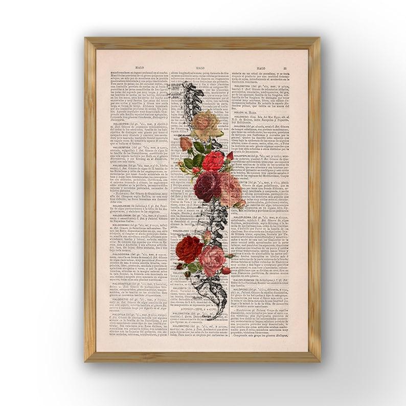 Springtime Spine Decorative Art Flowers on Skull Nature image 0