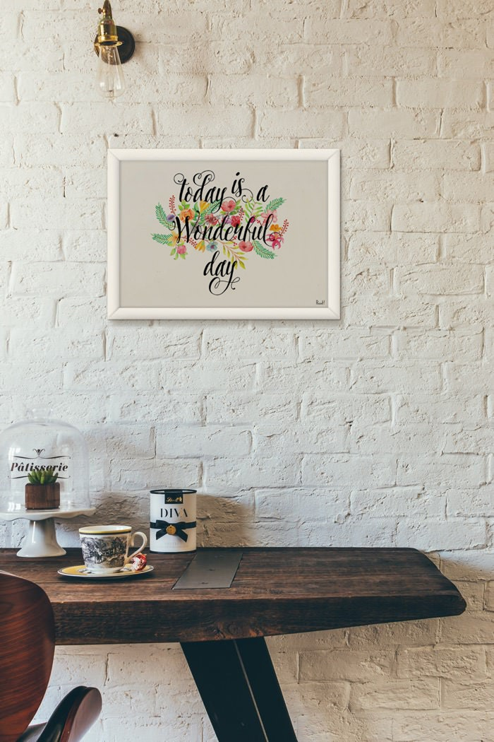 Inspirational Quote Poster, Positive quote, Typography, Wall art ...