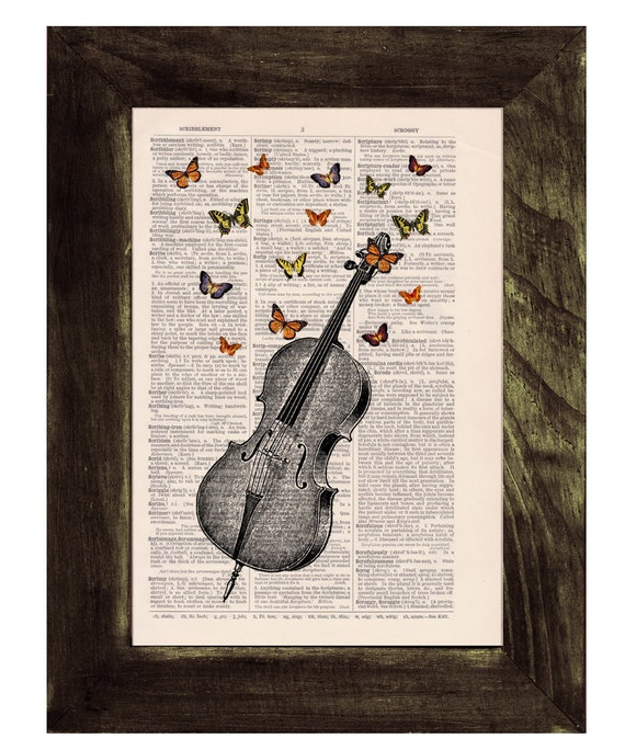 Christmas gifts for mom Butterfly collage Vintage Book Print Butterflies over cello collage Print on Vintage Dictionary art BFL083