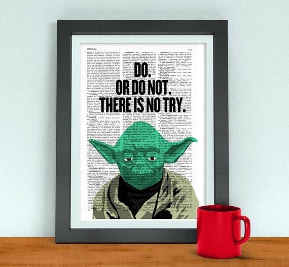Star Wars art, Yoda quote Husband Funny Birthday Gift Boyfriend,Giclee wall art,Star wars Yoda quote, geek art TYQ047b