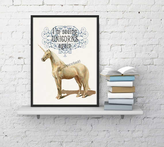 Fabulous Unicorn Geek Wall art Home decor ANI212WA4