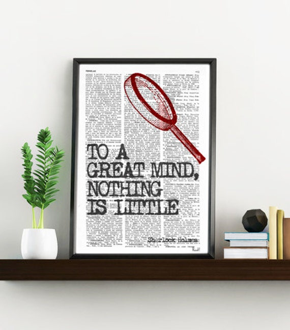 Smart Quote Sherlock holmes Print perfect for Christmas gifts TYQ009b