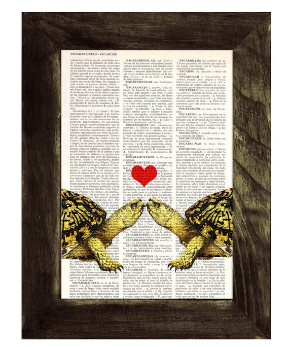 Christmas gifts for her Turtles in love, Wall art, Wall decor,   Vintage Book sheet, Nursery wall art, Prints, Wholesale,  ANI143