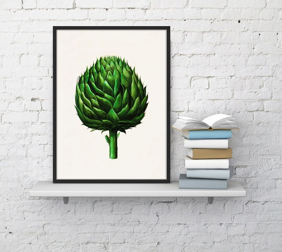 Kitchen Art Green Artichoke vegetables print Art BFL073WA4