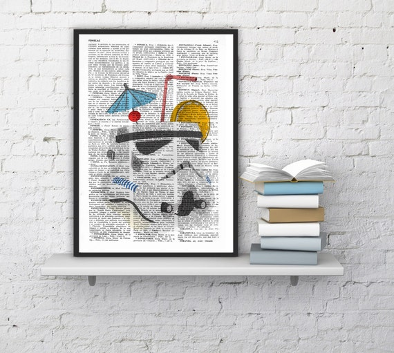 STORMTROOPER Cocktail Print, Unique Funny Gift Idea, STAR WARS Poster,Gift from Bride, Dad Gift  TYQ048