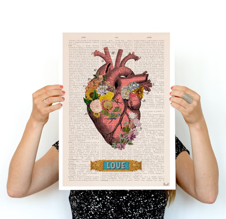 Love Colorful Heart Poster  anatomy art wall art poster image 0