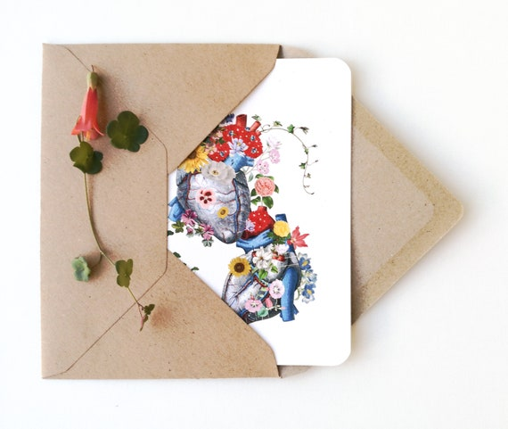 Love Greeting cards set. Anatomical Hearts . Notecards set of six designs of Hearts, Blank note cards set. Amor Greeting cards set. NTC05WA6