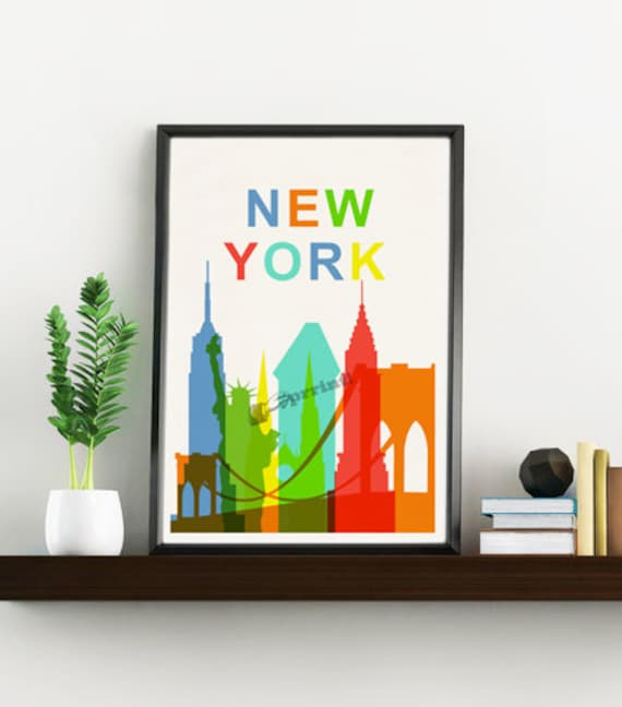 New York City skyline Wall art decor TVH242WA4
