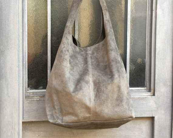 Large TOTE leather bag in khaki GREEN . Slouch bag. Genuine leather bag Laptop bags in suede. Large suede leather bag. GREEN  suede bag.