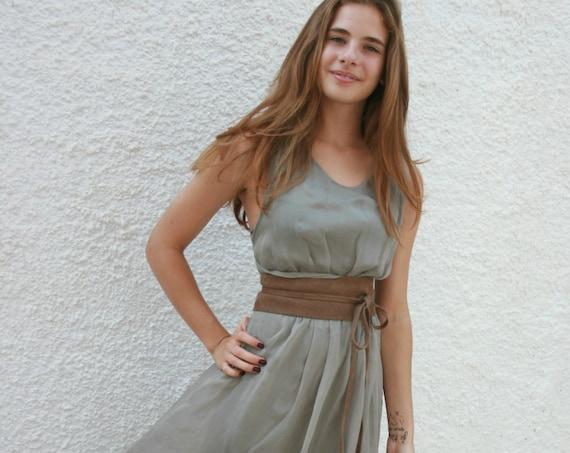 beige suede OBI belt, SASH in natural soft  suede,waist belt,soft leather belt, beige sash, obi, boho belt, bohemian sash, boho beige belt