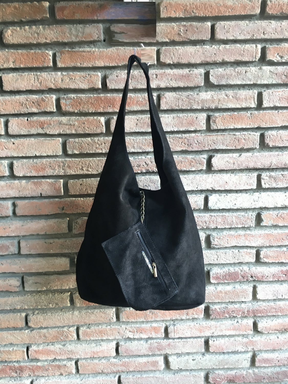 2fe6fa9793b0 Slouch bag.Large TOTE leather bag in BLACK. Soft natural suede ...