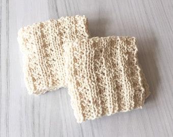 Dishie cotton dishcloth knit dishcloth natural handknit kitchen cloth