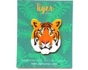 Tiger Pin, shrink plastic tiger pin