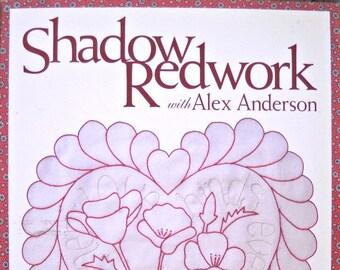 Shadow Redwork Quilting Book by Alex Anderson, Quilt Patterns Redwork Patterns